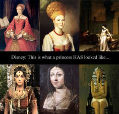Disagree a bit with the third and fourth--they represent princesses/queen who were pretty kickass, but the others are all contemporary portraits. And there are plenty of portraits/archeological mockups of how Cleo actually looked...