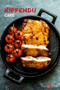 """Maak je eigen """"cake"""" van Hollandse Gildehoen kippendijen Tandoori Chicken, Steak, Cake, Ethnic Recipes, Food, Pie Cake, Pastel, Meal, Eten"""