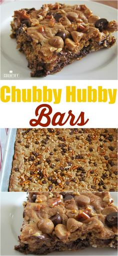 Chubby Hubby Bars recipe from The Country Cook. This tastes just like my favorite Ben & Jerry's ice cream flavor! A little salty and a little sweet but so good!