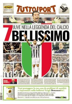 Juventus Soccer, Juventus Fc, Football Cards, Football Players, Newspaper Front Pages, Newspaper Design, E Sport, Everton Fc, Grande
