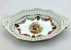 German Porcelain Vintage Dish with a Victorian Man & by Pastfinds