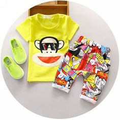11.99$  Watch here - 2016 Fashion Baby Boy Summer Clothing Set 1 2 3 Years Old Children Monkey Sets Nice Cotton Fashion Style Toolders 2Pc Suit  #aliexpress