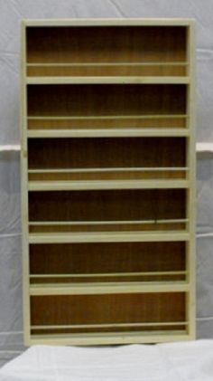 Spice rack mounted on the door pantry door mounted spice Spice Rack On Pantry Door, Pantry Door Storage, Storage Rack, Door Mounted Spice Rack, Wooden Spice Rack, Spice Rack Organiser, Spice Organization, Spice Rack Uses, Cleaning Cabinets