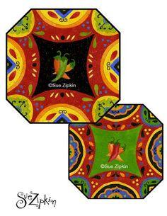 Fun and colourful - Hot & Saucy by wonderful artist Sue Zipkin