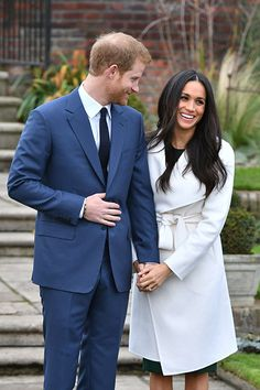 Prince Harry and Meghan Markle's engagement announcement.
