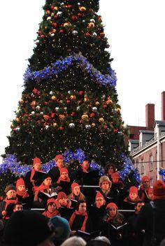 Nueva York en familia. Coro Navidad en el Pier 17