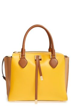 Michael Kors 'Miranda - Large' Colorblock Leather Satchel available at #Nordstrom