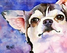 Chihuahua Art Print of Original Watercolor by dogartstudio on Etsy