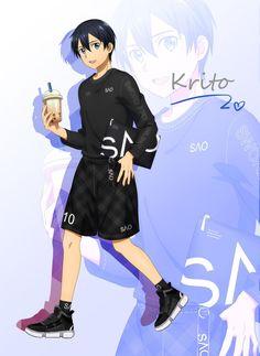 Credit to original artist . Sword Art Online Poster, Sword Art Online Wallpaper, Kirito Kirigaya, Kirito Asuna, Online Anime, Online Art, Anime Tv Series, Black And Gold Watch, Fate/stay Night