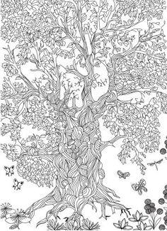 Adult Coloring Page Tree - Adult Coloring Page Tree , Tree Coloring Pages for Adults Free Printable Tree Coloring Pages For Grown Ups, Tree Coloring Page, Adult Coloring Book Pages, Colouring Pages, Printable Coloring Pages, Coloring Sheets, Coloring Books, Fonts Letras, Zentangle