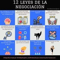 12 Leyes de la Negociación (por Albert Font) #infografia #infographic #RRHH