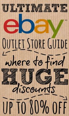 Use our A-Z outlet store guide to find then shop with your favourite high street retailers and get huge discounts of up to on and For more great pins go to Ways To Save Money, Money Tips, Money Saving Tips, Make Money Online, How To Make Money, Ebay Selling Tips, Selling Online, Ebay Tips, Outlet Store