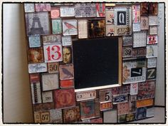 decor inspir, art project, frame, craft tim, alter art, bathroom mirror, tim holtz, alter mirror, crafti idea