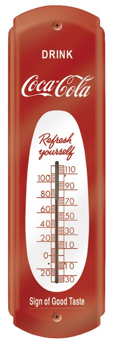 Thermomètre américain COCA COLA :