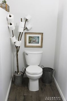 Great TOP 10 Diy Toilet Paper Holder Ideas
