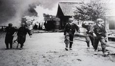 Men from Freikorps Danmark photographed in Demyansk, south of Leningrad, during fighting in 1942. In December 1942, Freikorps Danmark suffered heavy attacks by a division of the notorious NKVD internal security troops in the Velikje Luki region and in intense fighting they defended the positions.