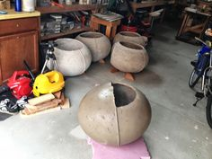 IKEA Hackers: Large concrete planter from kid's chairs