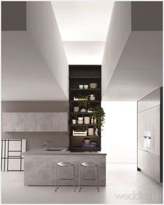 Dada Indada Kitchen designed by Nicola Gallizia. Sophisticated, modern look that introduces new finishes and materials Kitchen Furniture, Kitchen Dining, Small Stove, Copper Decor, Cooker Hoods, Cuisines Design, Küchen Design, Kitchen Colors, Industrial Style