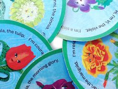 Free printable Flower Friends card shared at #GSActNow