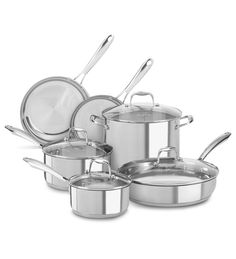 KitchenAid Stainless Steel 10-Piece Set (KCSS10LS )   kitchenaid®