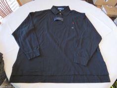 Polo Ralph Lauren The Mesh shirt long sleeve Men's 4386423 3XB Big Black logo