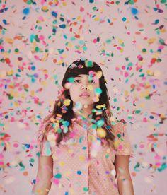 Glenda Lissette ♥ self-portrait -18 year old photographer #confetti