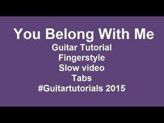 You Belong With Me guitar tutorial