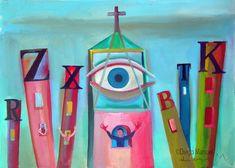 el llamado de dios. Painting of the Serie Surrealism for sale by artist Diego Manuel