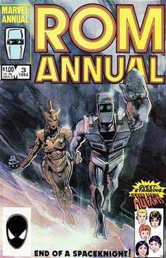 Rom Space Knight Annual # 3 by Bill Sienkiewicz Comic Book Covers, Comic Book Heroes, Comic Books Art, Comic Art, Buy Comics, Marvel Comics Art, Marvel Heroes, Space Knight, Book Cover Page