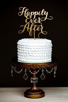 Wedding Cake Topper  Happily Ever After van BetterOffWed op Etsy, $39,00