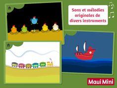 Maui Mini App pour Android - Jeux amusant pour les bébés et enfants de 2 à 5 ans.