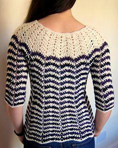 Crochet chevron sweater - free pattern!