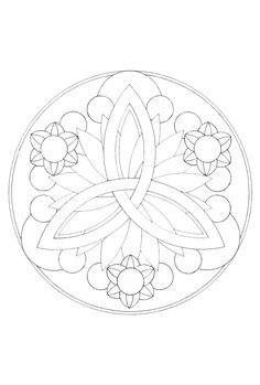 blumen mandala 2 | mandala malvorlagen, mandala ausmalen