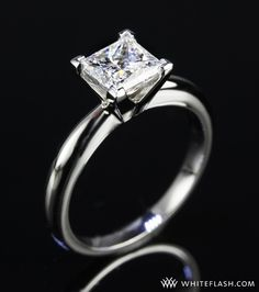Ideal wedding ring... simple band, white gold, one stone. :-)