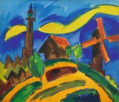 Karl Schmidt-Rottluff (1884–1976)  Karl Schmidt werd in Rottluff bij Chemnitz (Saksen) geboren en noemde zich vanaf 1905 Schmidt-Rottluff. Op 7 juni 1905 werd in Dresden de kunstenaarsgroep Die Brücke opgericht door Schmidt-Rottluff, Ernst Ludwig Kirchner, Fritz Bleyl en Erich Heckel.
