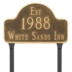 Montague Metal Products Historical Arch Address Plaque Finish: Sea Blue/Gold