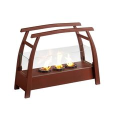 Portable indoor AND outdoor fireplace - low cost and low maintenance hearth-without-the-hassle.