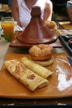 Morning meals in Morocco mean a breakfast tagine paired with crepes, an import from the days when France colonized Morocco.