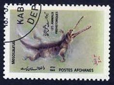 Timbre-nombre-AF1279 - Mesosaurus  #stamps #afghanistan #mesosaurus