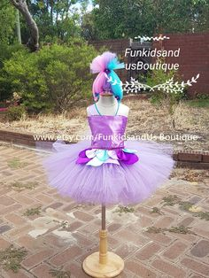 Satin and Chenille inspired tutu dress Trolls birthday party