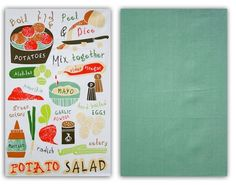 Potato Salad Recipe Towel Set