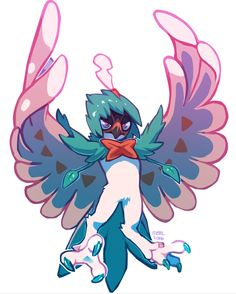 I was given my Rowlet, Oliver, when I arrived in the Alola region. He's now a Decidueye, and he's as loyal a companion as any I've had. He's quiet and doesn't really get along with many of my other Pokemon, except Squishy.