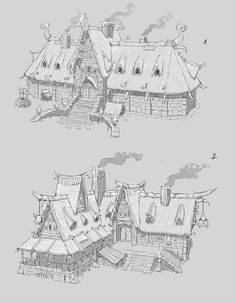 #Halas Style Guide - inns & lodges concept art | EverQuest Next