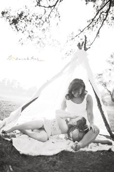 another cute moment in the teepee