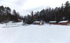 Winter photo of Muskie Bay Resort