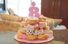 Donut Cake for Sleepover Birthday!