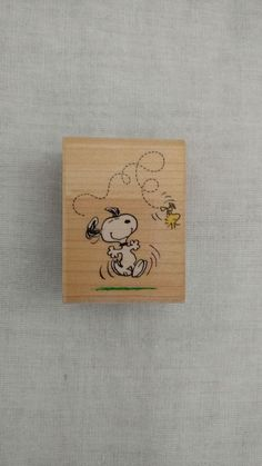 Stampede Peanuts Snoopy and Woodstock Rubber Wooden Stamp A433D Scrapbook #RubberStampede