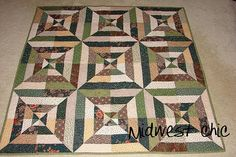 Great idea for jelly roll use. This method brings more interest to strip quilting.