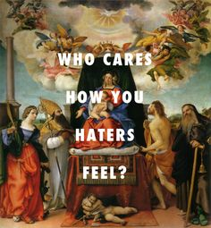 flyartproductions: Mary still got her money Enthroned Madonna with angels and saints (1521), Lorenzo Lotto / Pour It Up, Rihanna