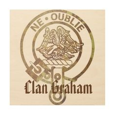 Clan Graham Sepia Crest Wood Wall Art